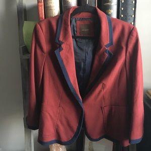 Crimson & navy Limited blazer